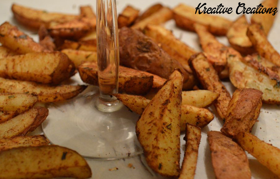 Spiced Baked Fries 4
